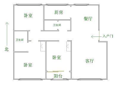 中茂家园 3室2厅 双证齐全 精装 195万