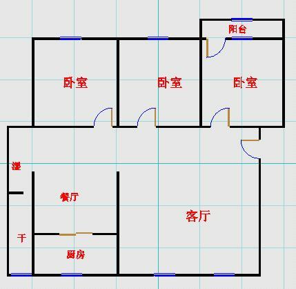 德兴南路小区 3室2厅 过五年 简装 90万