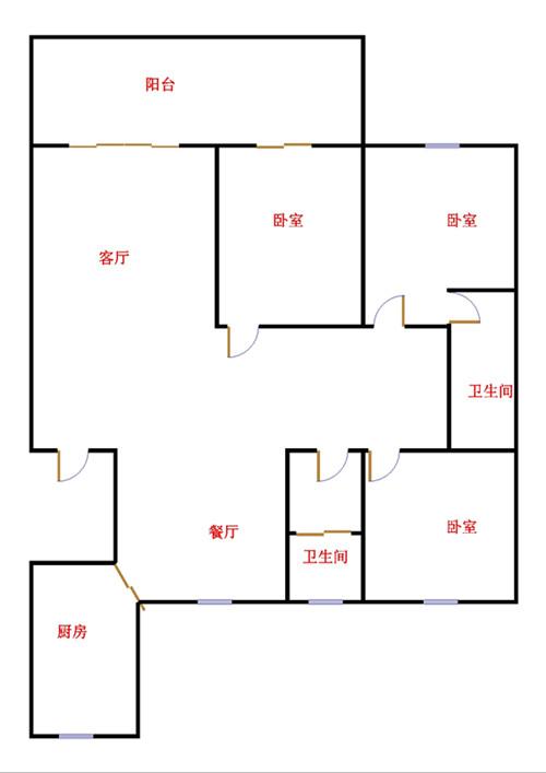 华腾御城 3室2厅  精装 170万