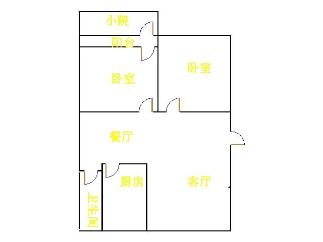 尚城国际 2室2厅  简装 90万
