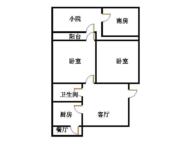 天衢东路小学宿舍 2室1厅  简装 95万