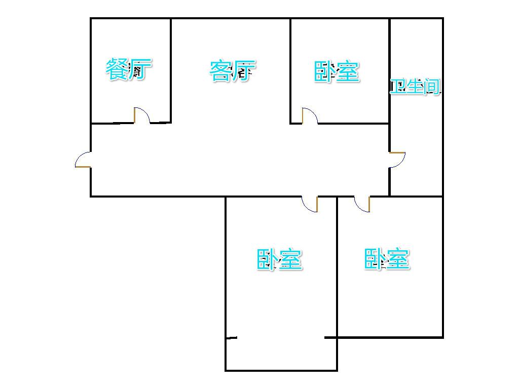 牡丹华庭 3室0厅 双证齐全 精装 98万