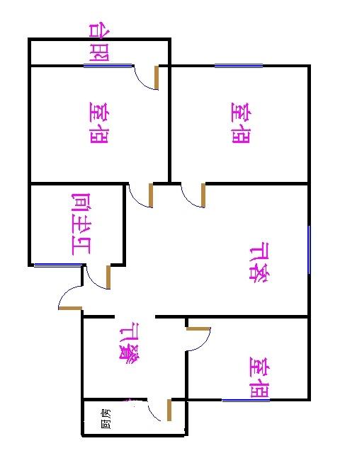 岔河小区 3室2厅 双证齐全 简装 120万