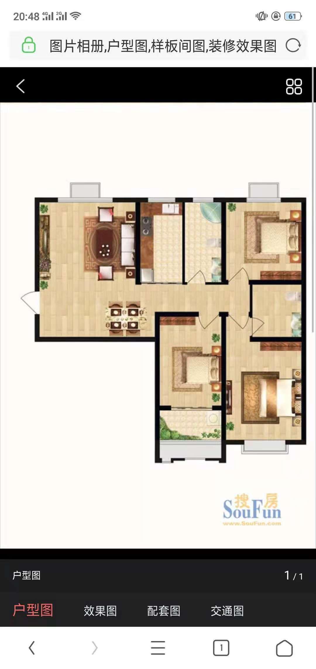 古韵大东关 3室2厅 22楼