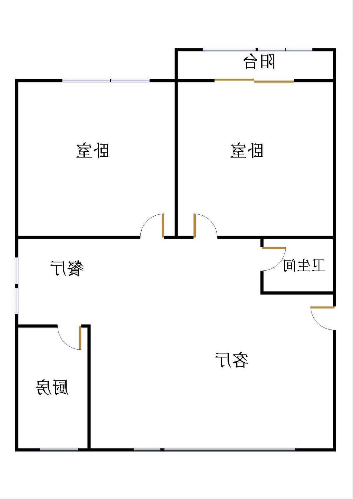 盛和景园 2室2厅 1楼