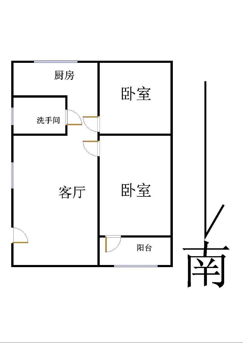 前进小区 2室2厅 1楼