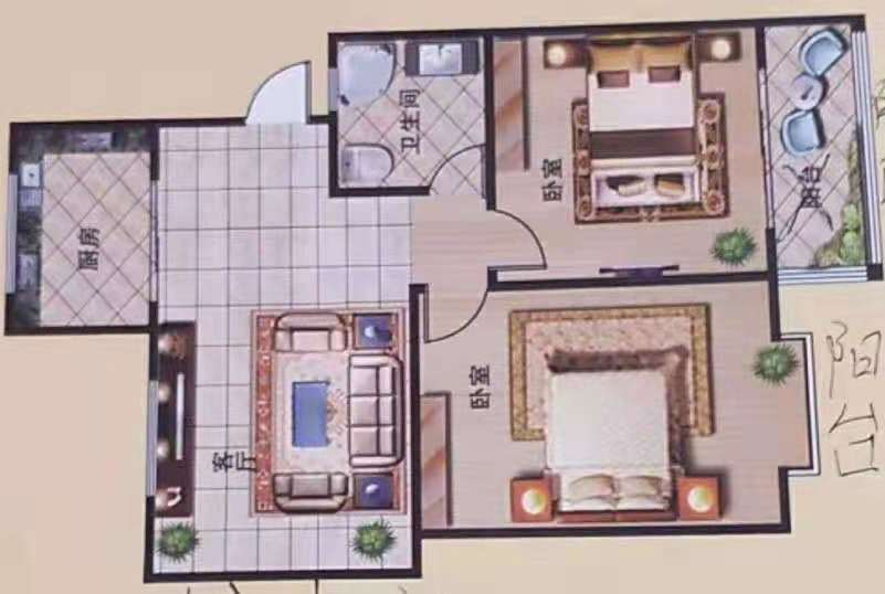 龙泰庄园 2室1厅  简装 24万