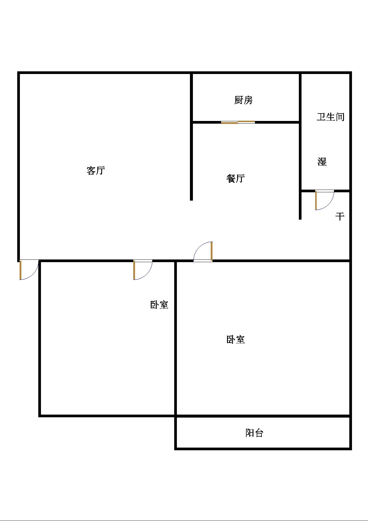 尚城国际 2室2厅  简装 88万