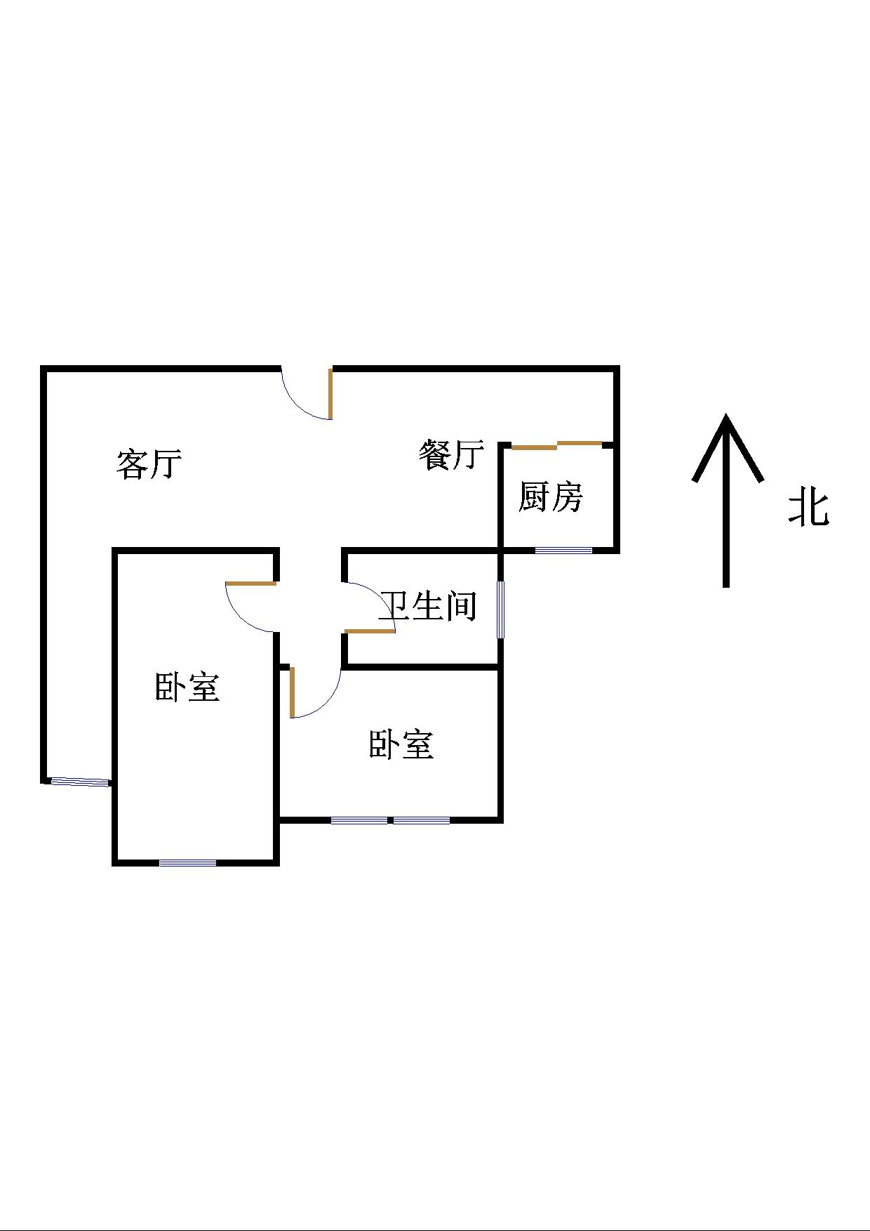 盛世华园 2室1厅 17楼