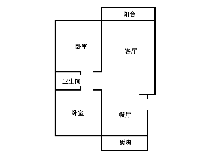 金卉小区 2室2厅 双证齐全 简装 64万