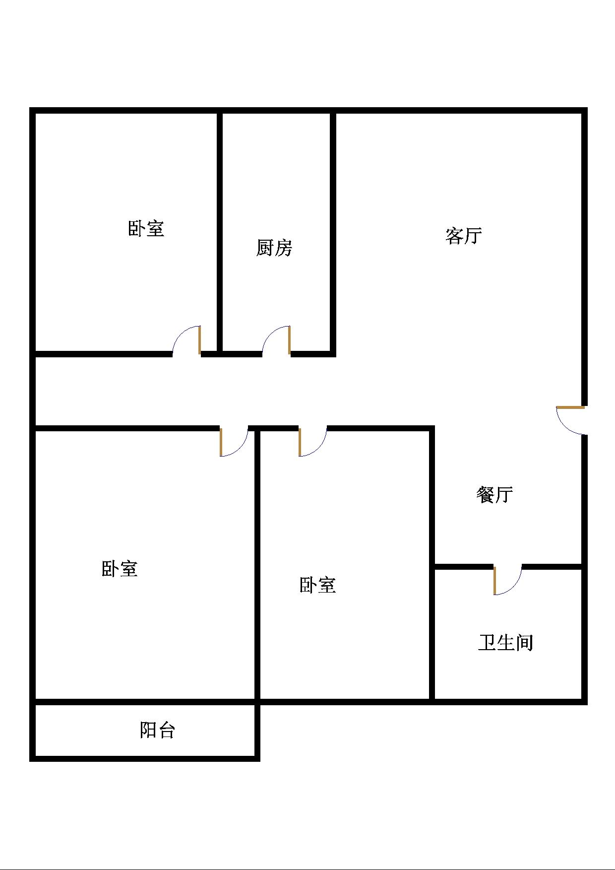 尚城国际 3室1厅 14楼