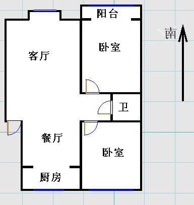 金光集团宿舍 2室2厅  精装 70万