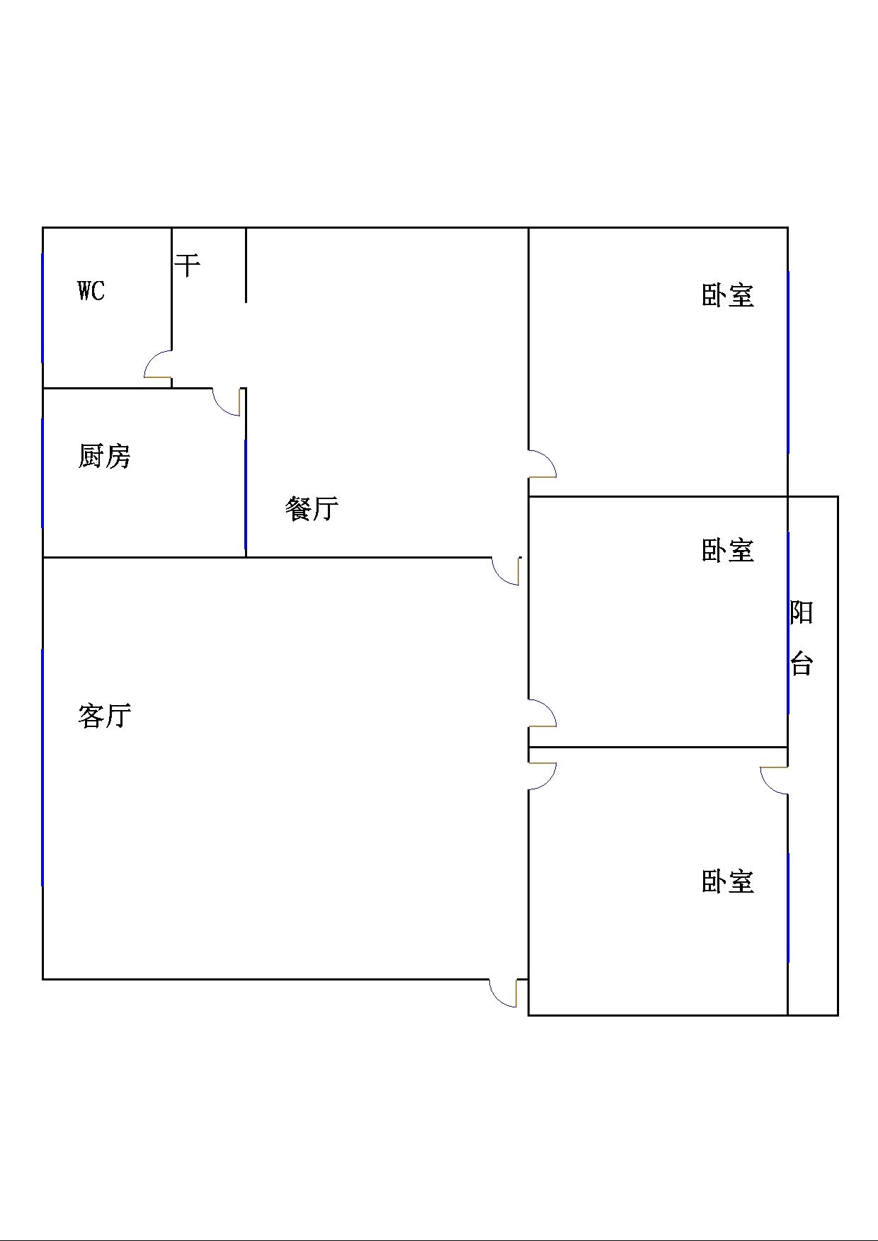 刨花板厂宿舍 3室2厅 过五年 简装 93万
