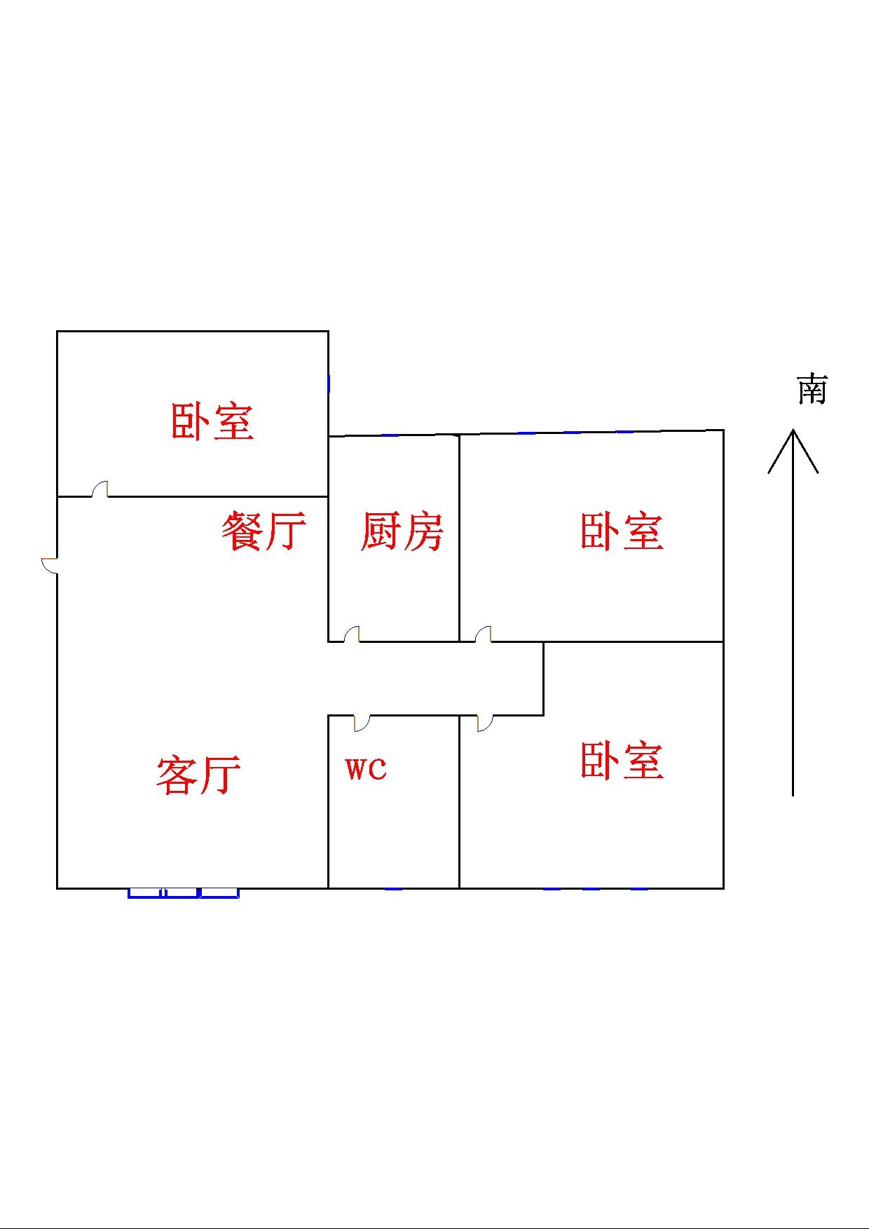 聚秀城 3室2厅 4楼