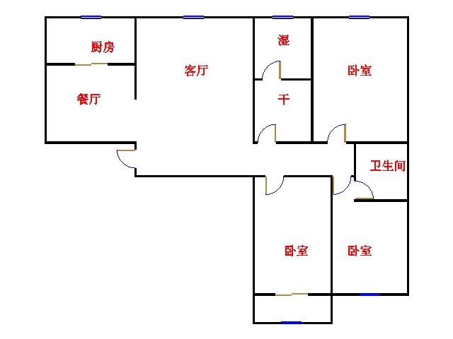 盛和景园 3室2厅 过五年 简装 130万