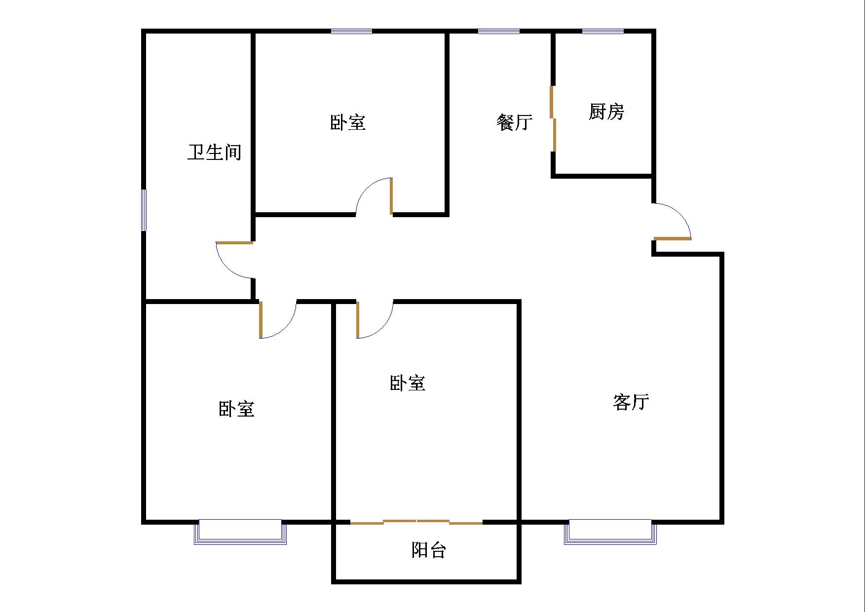外海.江南水郡 3室1厅 5楼