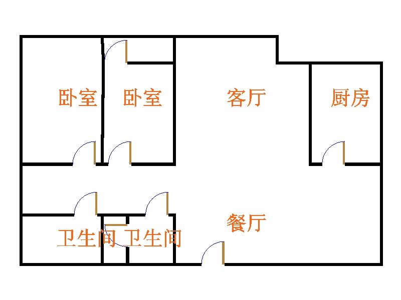 未来城 2室2厅 过五年 精装 155万