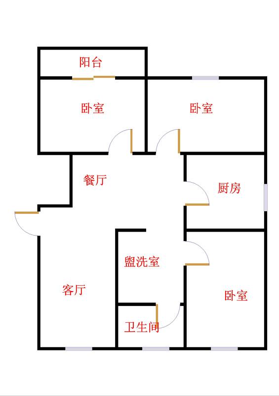 嘉诚尚东 3室2厅  简装 135万