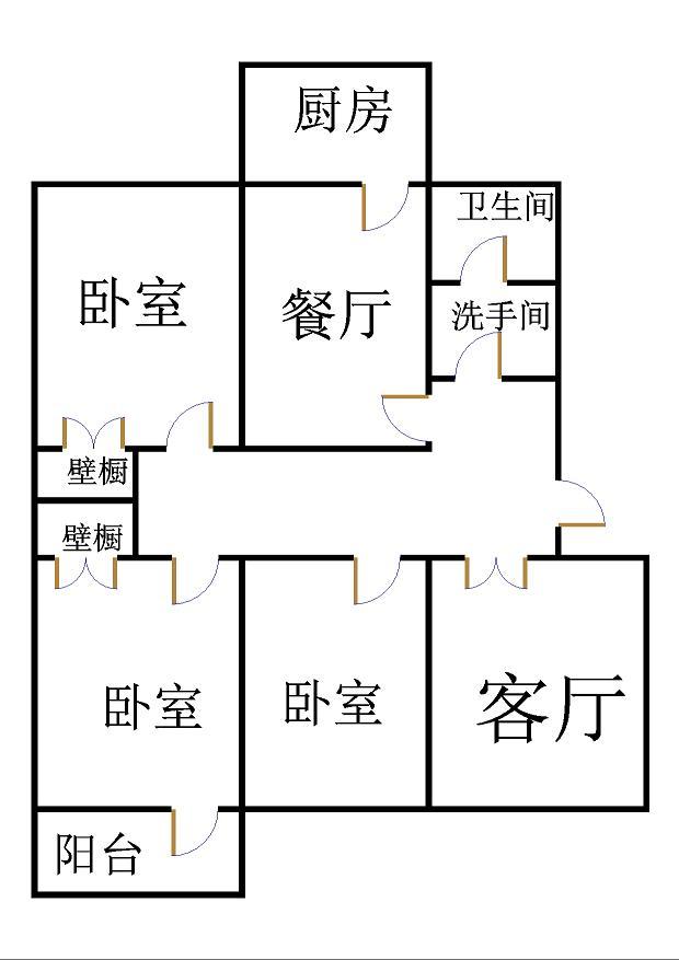 安然居宿舍 3室2厅 5楼