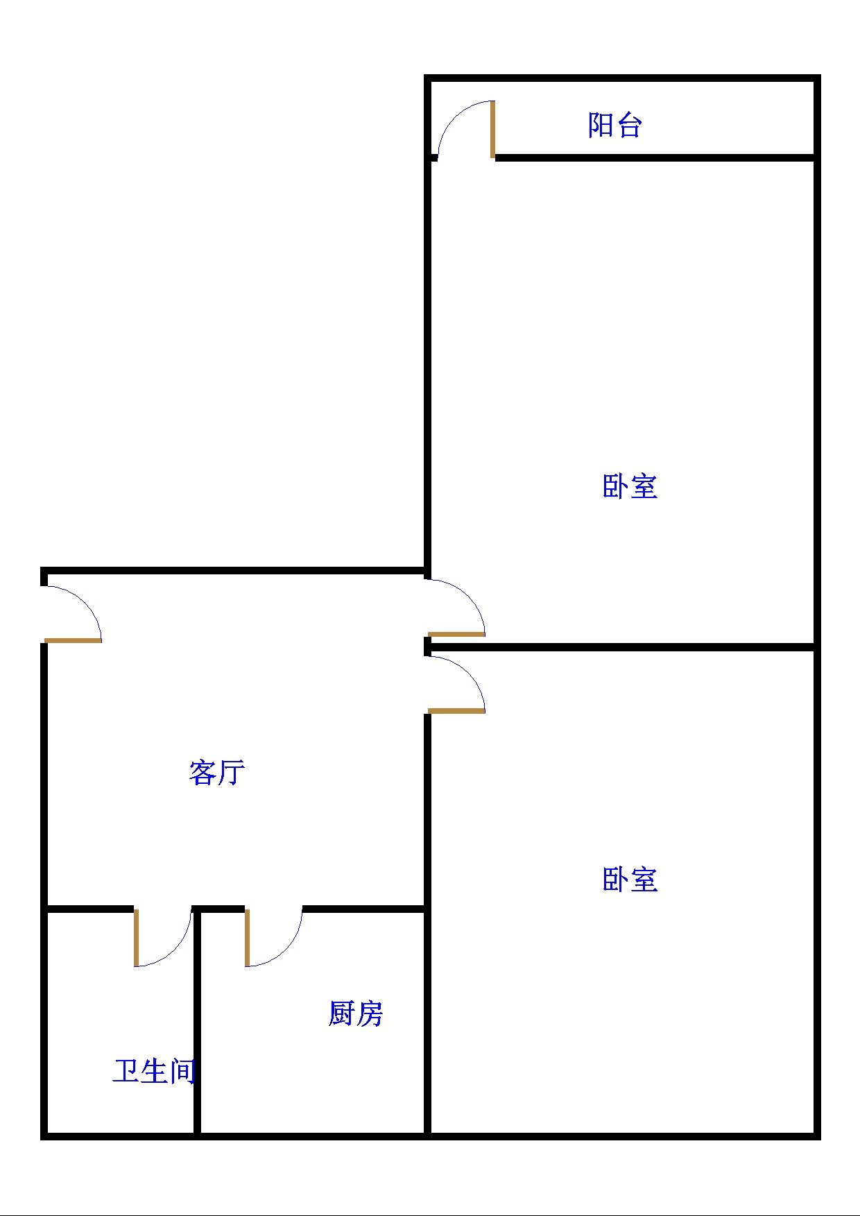 邹李小区 2室1厅 6楼