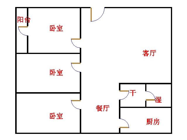 尚城国际 3室2厅  简装 135万