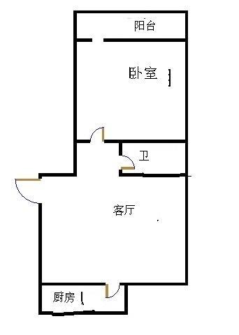 长河小区 1室1厅  简装 48万