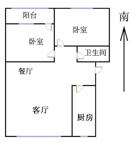 北苑新邸 2室2厅 3楼