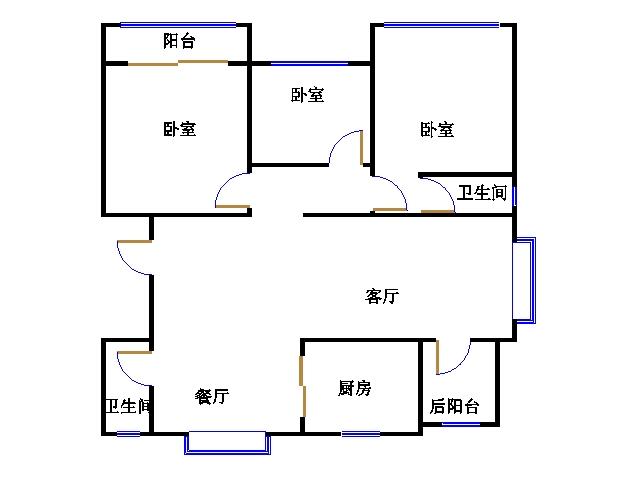 南龙国际花园 3室2厅 2楼