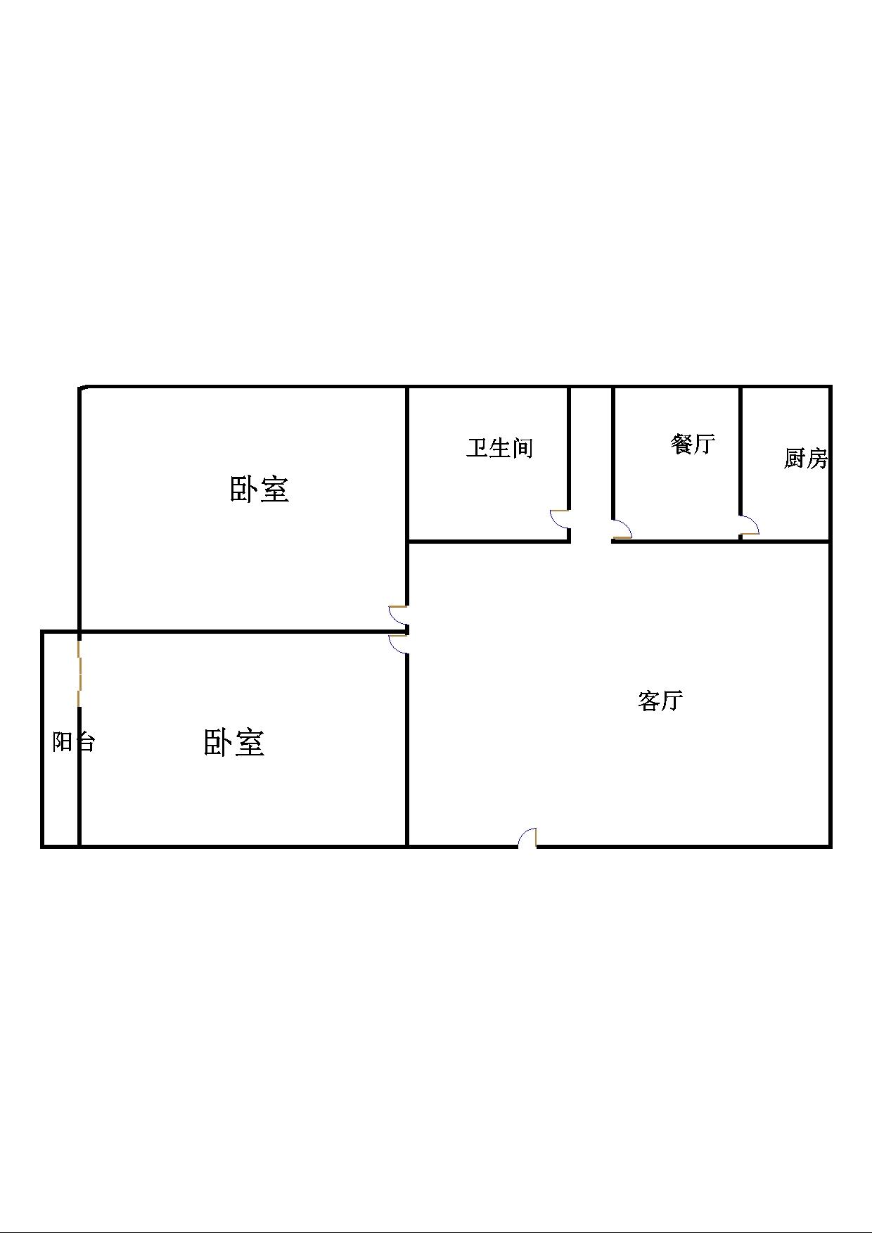 胜利花园 2室2厅 6楼