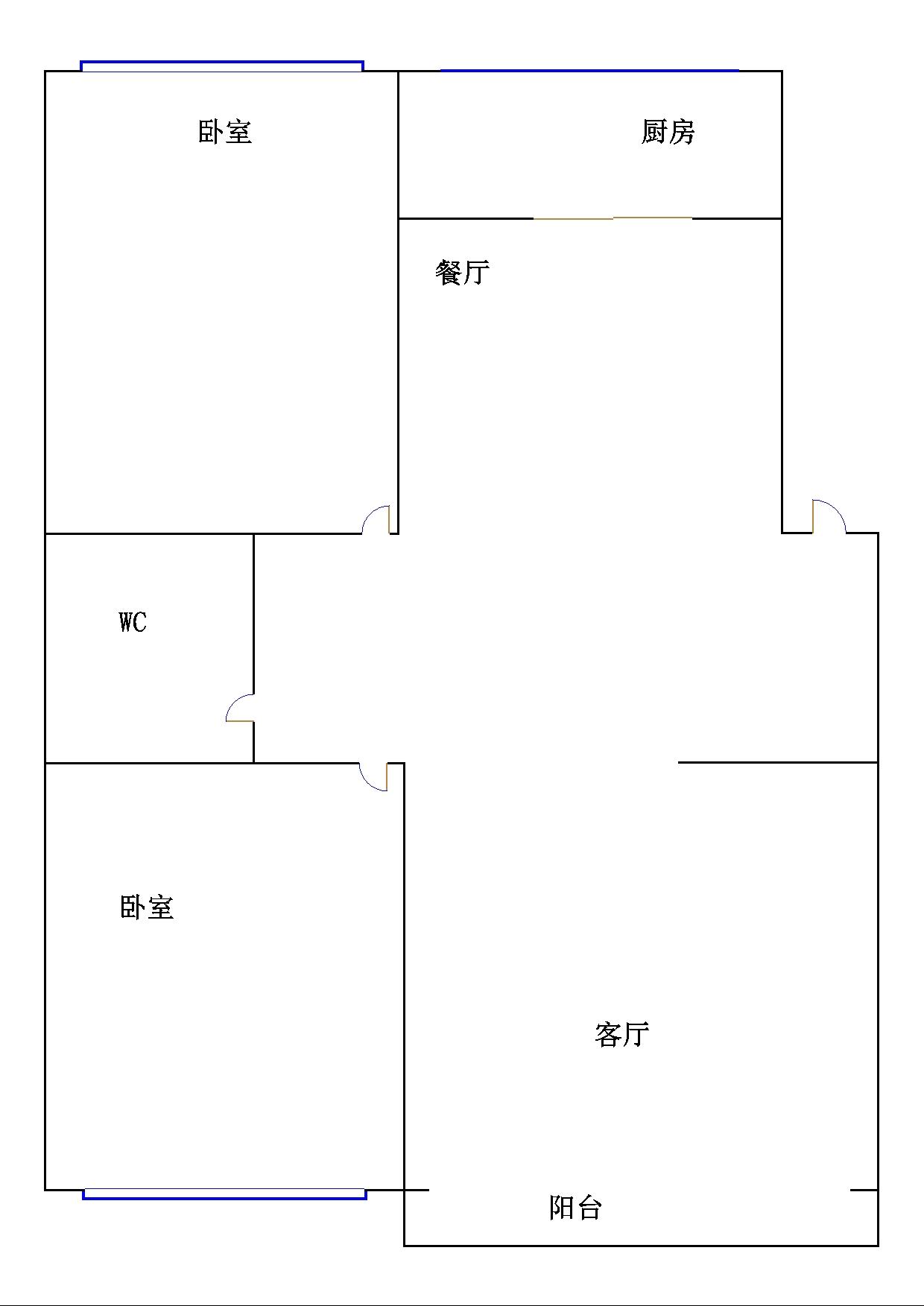 金谷园小区 2室2厅 6楼