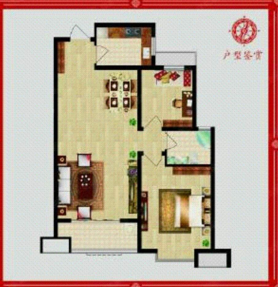 古韵大东关 2室2厅 21楼