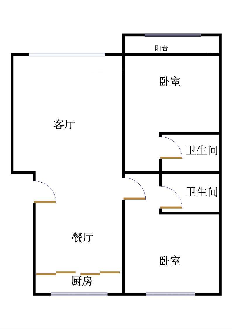 金光集团宿舍 2室2厅 4楼