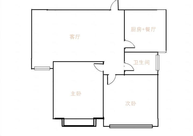 星河湾 2室2厅 4楼