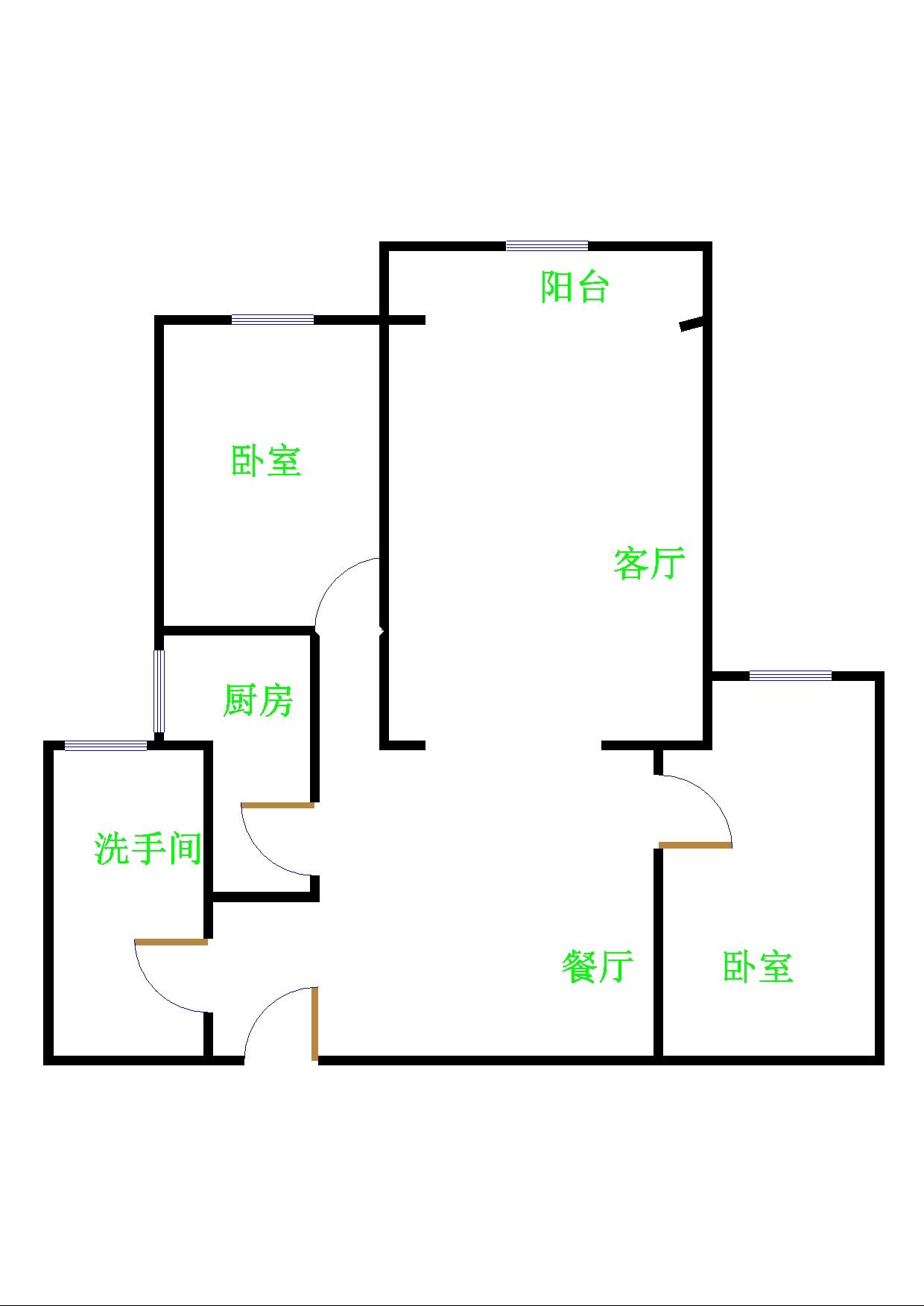 领秀天衢 2室2厅  简装 102万