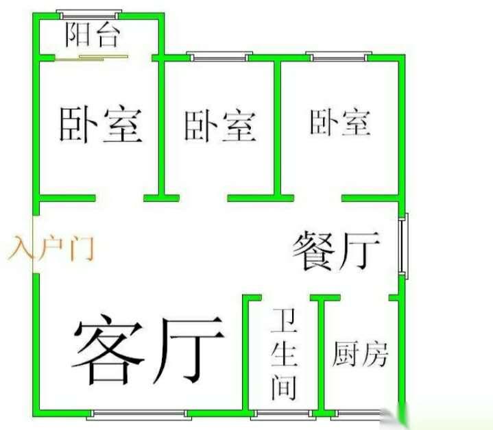 贾庄社区 3室2厅 6楼