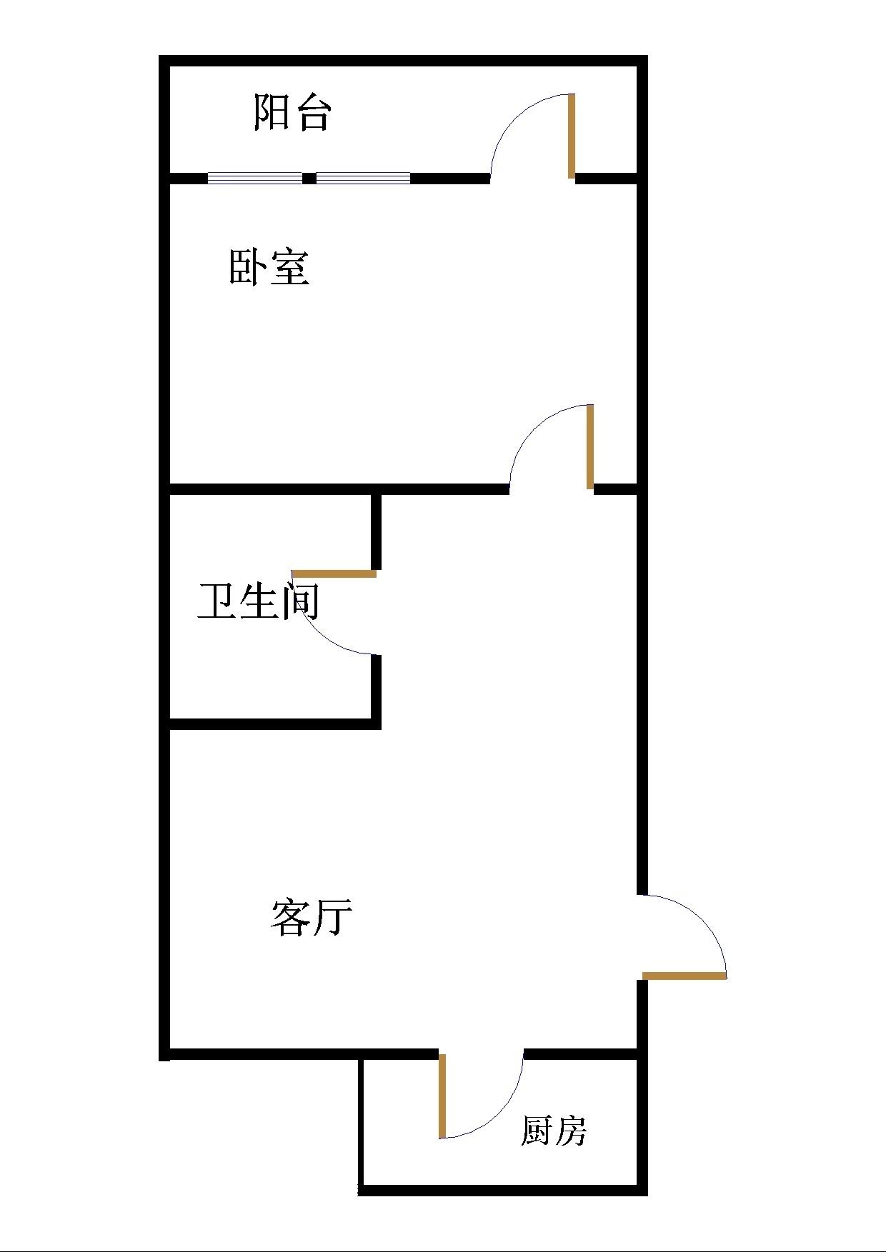 长河小区 1室1厅 双证齐全过五年 简装 45万