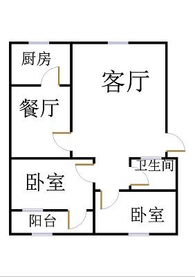 安然居宿舍 2室1厅 6楼