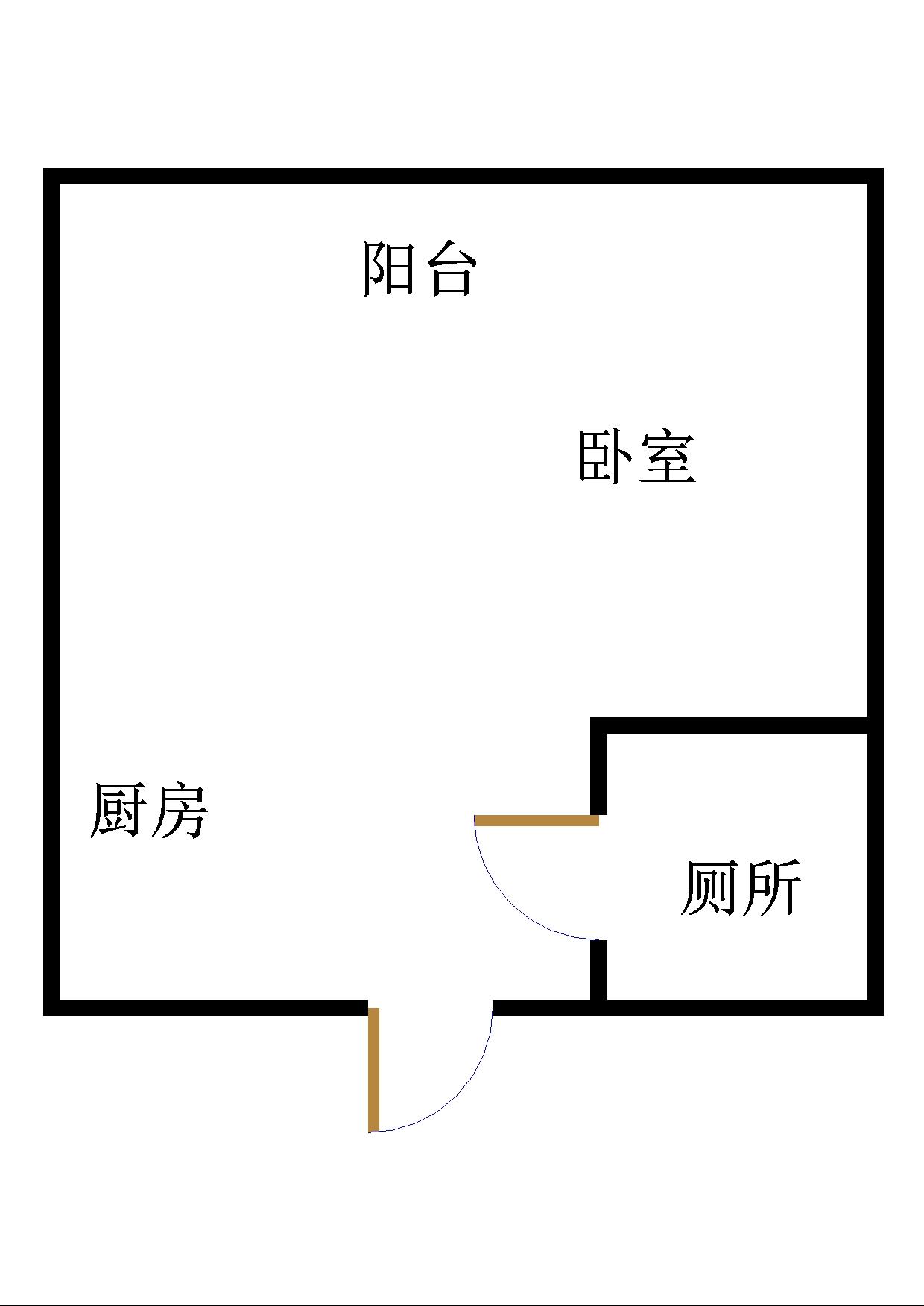 万达广场 1室1厅 22楼