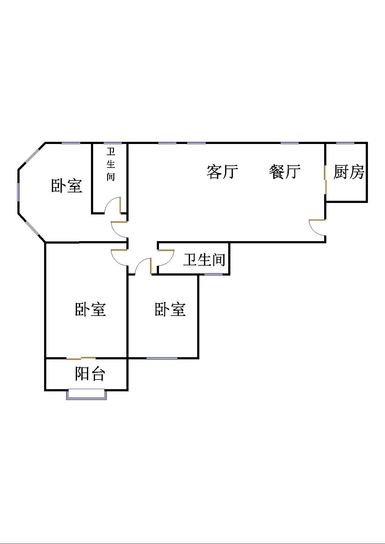 玫瑰公馆 3室2厅 14楼