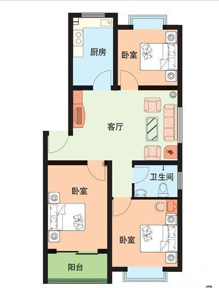 鲁班御景园 3室2厅 双证齐全 简装 98万
