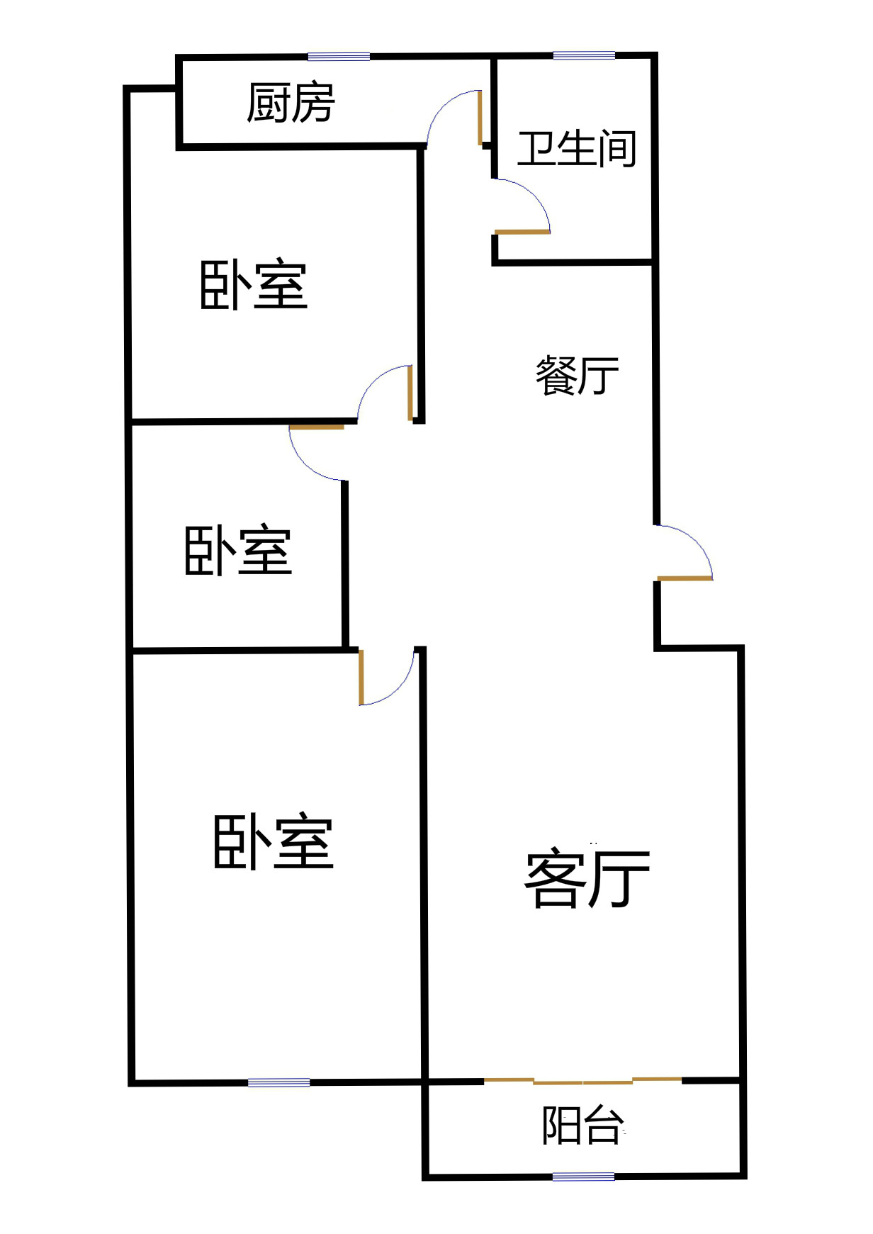 高地世纪城 3室2厅 5楼