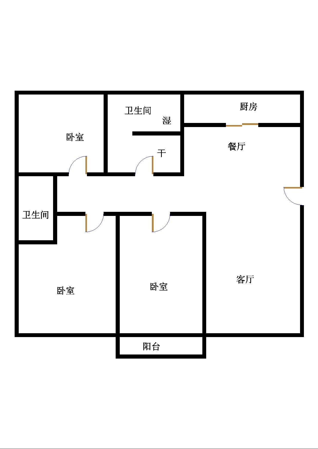 南龙国际花园 3室2厅 双证齐全过五年 简装 125万
