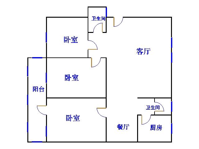 青龙潭小区 3室2厅 4楼