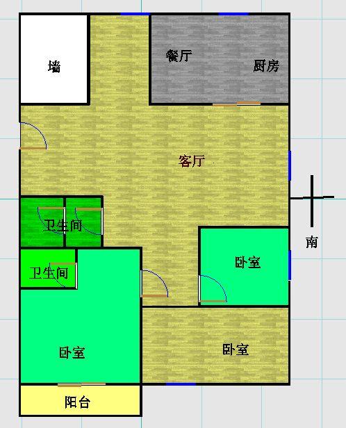 盛世华园 3室2厅 16楼