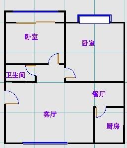 领秀天衢 2室1厅 5楼