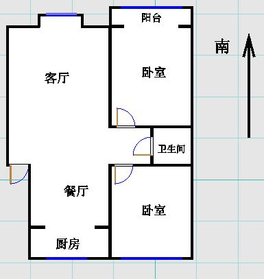 金光集团宿舍 2室2厅  简装 73万