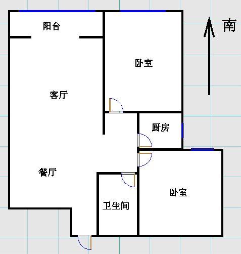 嘉城盛世 2室2厅 10楼