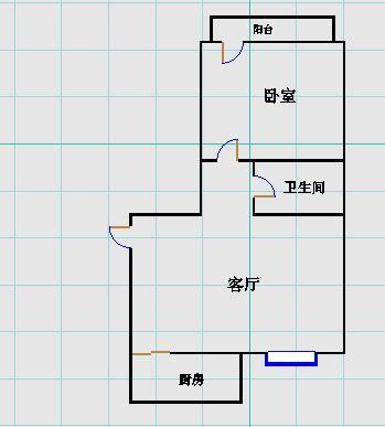 嘉诚景园小区 1室1厅 6楼