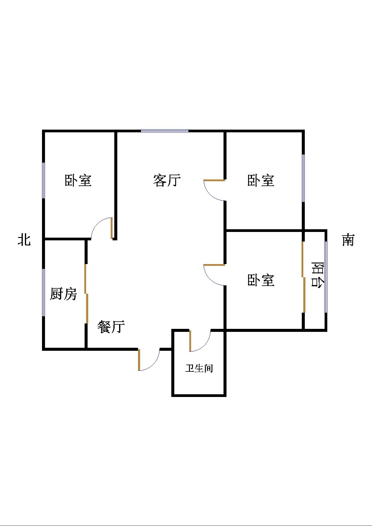 嘉御园 3室2厅 5楼