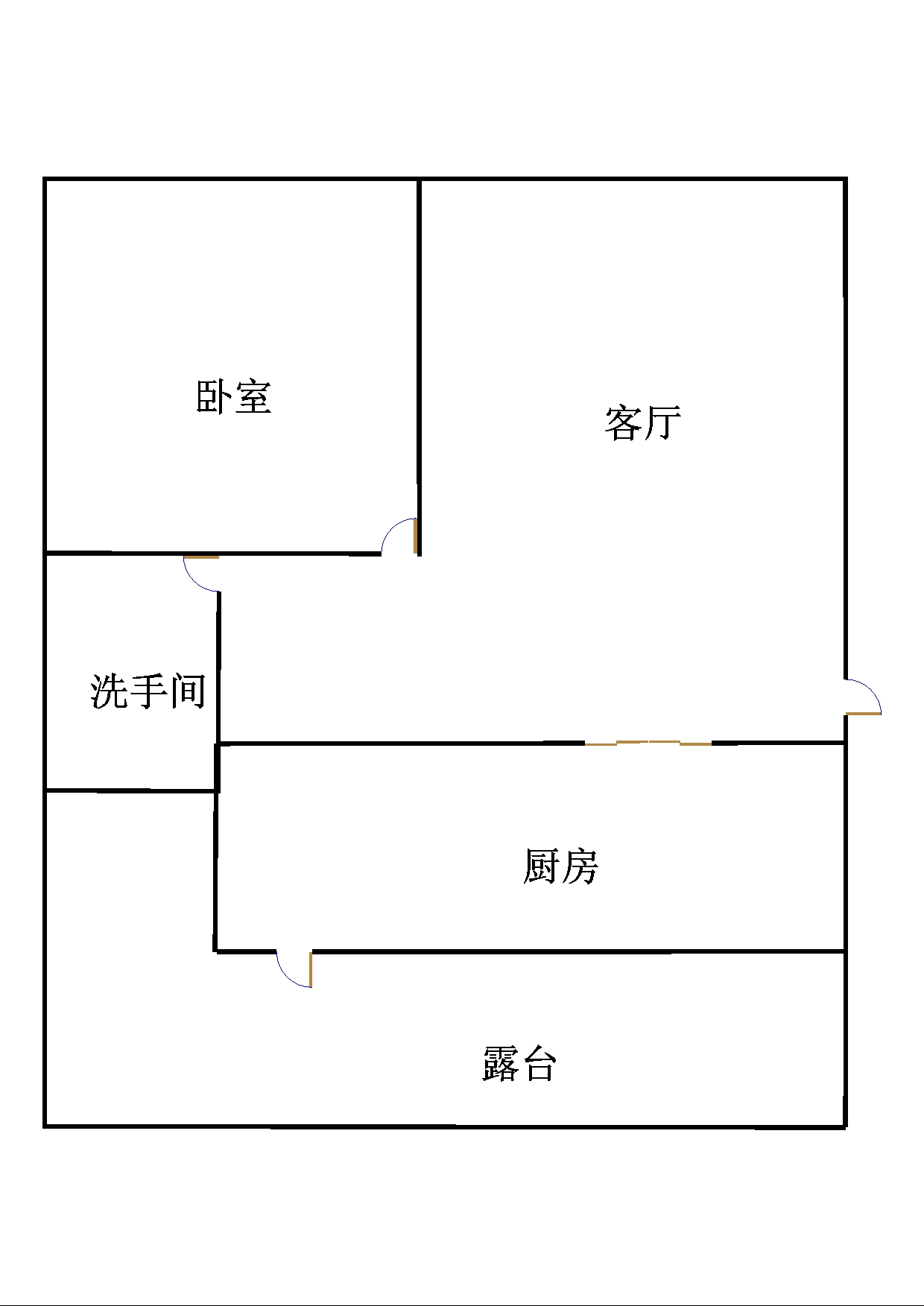鲁班御景园 1室1厅 7楼